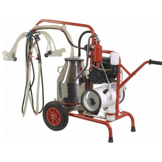 Dual goat milking machine