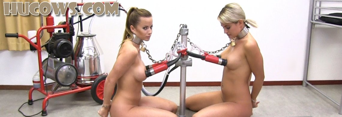 Cindy Dollar and Nicole Vice - friends milked