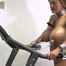 Katie – nipple training on the treadmill