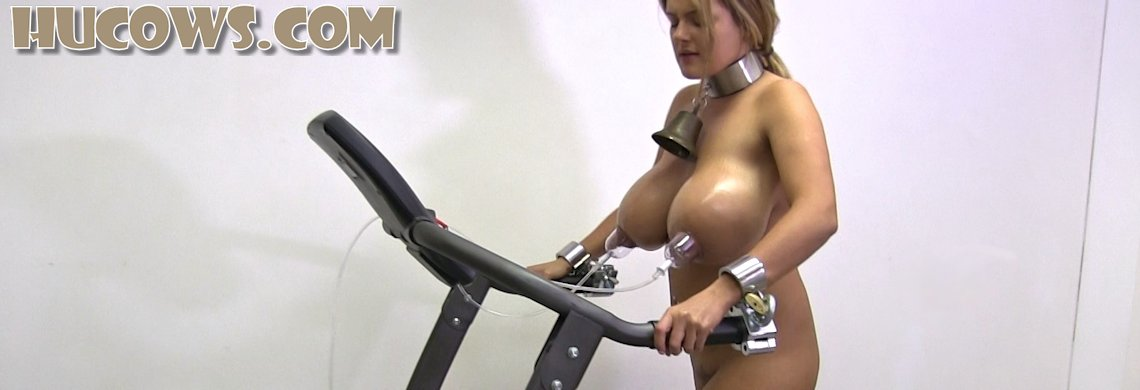 Katie - nipple training on the treadmill