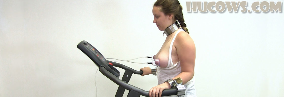 [HuCows.com] Vina on the treadmill / Вина на беговой дорожке [2019-06-22, nipple pumping machine, bondage, 1080p, HDRip]