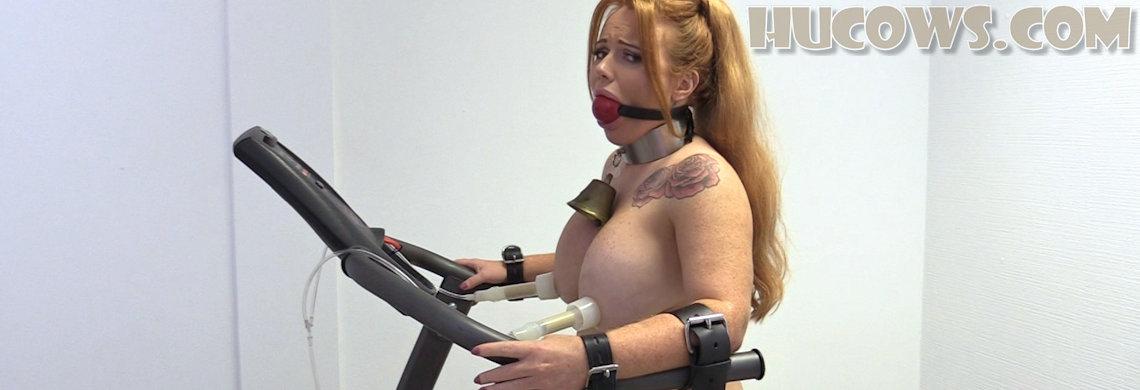 Lisa on the treadmill